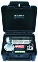 MJLockbox Burrito Locking StashBox Combo, Smell Proof Jars, Optimus Grinder