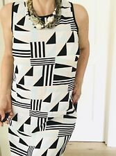 STUDIO W WOMENS DRESS PRINTED SHORT LONG POCKETS Viscose  Rayon SZ 10