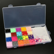 11000Pcs Fuse Perler Hama Bead Mini Ironing Set Refill Pack 3 Pegboard Xmas Gift