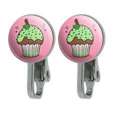 Mint Chocolate Cupcake Novelty Clip-On Stud Earrings