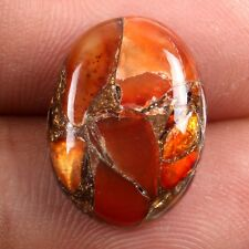 16x12 mm CARNELIAN COPPER MOHAVE Oval Cabochon Loose Gemstone 7 Cts s-25895