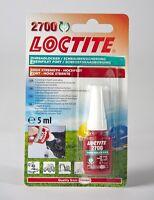 Loctite 2700 OEM Specified High Strength Thread lock & Sealant 5ml Stud/Nutlock