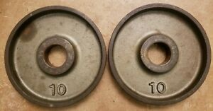 IVANKO Olympic TWO 10lb weight plates pounds gym 20lb total