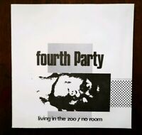 """FOURTH PARTY - LIVING IN A ZOO / NO ROOM 1983 -Mint 7"""" rare new wave /cold wav"""