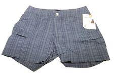 Womens Marmot Ani Plaid Dark Steel UPF/UV 40 Walking Shorts Sz 4 NWT $58
