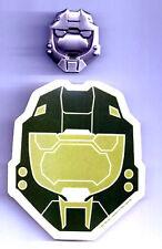 "Halo 3 War Game Pewter SOLDIERS Helmet 1.75"" Pin & Sticker Set of 2"