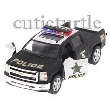 Kinsmart 2014 Chevrolet Silverado Pick Up Truck 1:46 Diecast KT5381DP Police Car