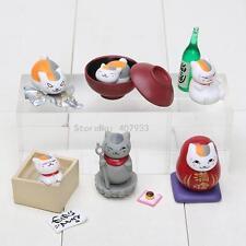 Natsume Yuujinchou Nyanko Sensei White Cat PVC Figure Toys 6pcs/set
