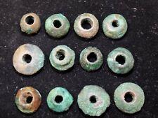Pre-Columbian Moche Copper - Copper Bead Collection, Set of 12