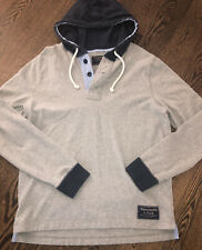 ABERCROMBIE & FITCH A&F SOFT Lightweight HOODIE HOODED SWEATSHIRT Mens Large EUC