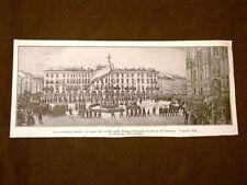 Milano nel 1848 Piazza Duomo Funerale caduti 5 giornate e Attacco di Porta Tosa