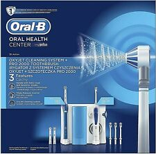 ORAL-B Oral Health Center + Pro2000 ElectricToothbrush Oxyjet Irrigator  -OC11