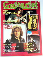 Vintage GUITARIST MAGAZINE October 1984 Steve Howe The Fixx Yamaha Fender YES