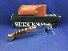 1996 Buck 110 Folding Hunting Knife & Sheath - Mint In Box - RARE