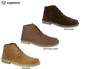 Desert Boots ROAMERS Suede Leather FULLER FITTING Lace-Up Ankle Size 3-15