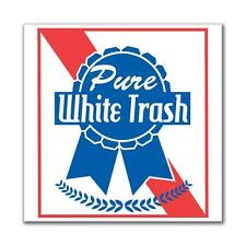 4th of July Pure White Trash 4in. Square Sticker