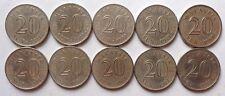 Malaysia 20 sen 1971 coin 10 pcs