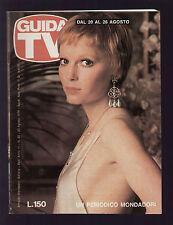 GUIDA TV MONDADORI 33/1978 MIA FARROW JOANNA LUMLEY LUCIANO DE CRESCENZO BATMAN