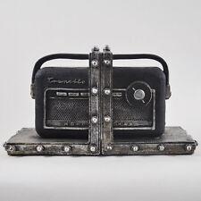 Transistor Radio Bookends Shelf Organiser Books Study Office Vintage New 12510