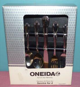 Vintage Oneida Stainless 20 Piece Flatware Set, Service for 4 Set - Bayou Rose