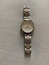 Michael Kors Women's 38mm Libby Rose Two-Tone Pav= Analog Bracelet Watch, Used