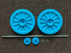 Peg Perego THOMAS the Train Ride On ENGINE REAR BACK WHEELS SET Replacement Part