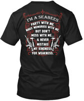 Seabees Ltd - I'm A Party With Me. Make Memories But Hanes Tagless Tee T-Shirt