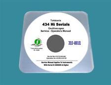 """Tektronix 434 Oscilloscope Service OPS MANUALS HI Serials With 17""""x11"""" Diagrams"""