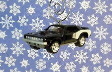 Custom Christmas Ornament 1/64 Scale 1971 '71 Black Hemi Plymouth Cuda Car