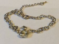 Rabbit & Egg TG320 Fine English Pewter on a Anklet / Bracelet