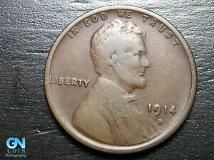 1914 D Lincoln Cent Wheat Penny  --  MAKE US AN OFFER!  #B9889