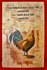 Vintage Look Rooster Rustic Cabin Country Farm Decorative Sign 1