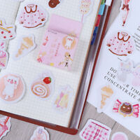 45x/box Sweet Girl DIY Diary Stickers Paper Labels Gifts Packaging Decor UJG