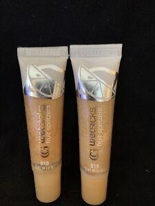 NEW 2PK CoverGirl Wetslicks Fruit Spritzers Lip Gloss, 515 LEMON SPLASH (13 ml)