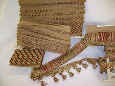 CONSO DUKE COLLECTION CORDINGS AND FRINGES  COLOR F47/N47 RUST/TERRACOTTA