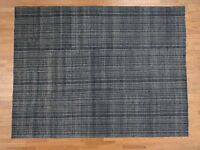 "9'x11'9"" HandKnotted Gabbeh Navy Blue Wool and Silk Oriental Rug G39748"