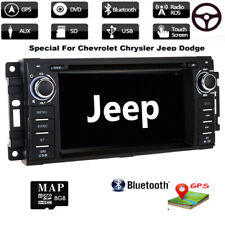 For Jeep Wrangler Touchscreen Single 1DIN Car Stereo DVD Player Radio BT GPS SWC