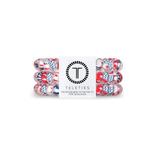 Brand New Teleties 3 Pack Small Hair All American Blue Ponytail Holder Bracelets
