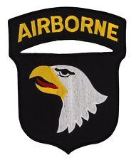 ARMY 101ST AIRBORNE 7X6  EMBROIDERED JACKET BACK  PATCH