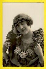 cpa FRANCE PARIS Old Postcard Photo JOLIE JEUNE FEMME Chapeau Hat Glamour Lady