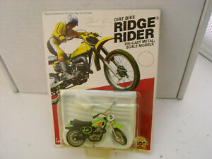 "1980 ZEE DIECAST 3"" LONG YAMAHA TT 500 DIRT BIKE RIDGE RIDER NEW ON CARD"