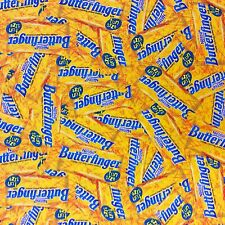 NT24 Butterfinger Candy Bar Toffe Nougat Sweet Chocolate Cotton Quilt Fabric