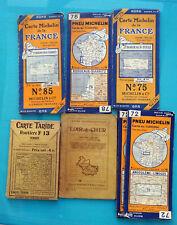 7 CARTES ROUTIÉRES EN COULEURS  DÉPLIANTES VERS 1910 1930 MICHELIN TARIDE