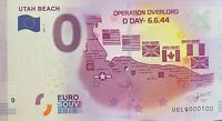 BILLET 0  EURO  UTAH BEACH OPERATION OVERLORD   FRANCE 2017 NUMERO 100