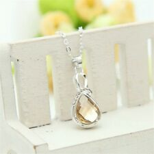 Brand New Womens Fashion Gold & Silver Crystal Rhinestone Pendant Necklace