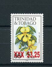 Trinidad & Tobago 2015 MNH Flowers Cats Claws OVPT 1v Set Flower Flora Stamps