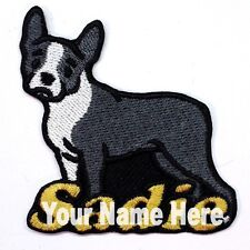 Boston Terrier Dog Custom Iron-on Patch With Name Personalized Free