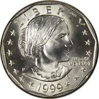 1999 P Susan B Anthony Dollar BU Uncirculated Mint State SBA $1 US Coin