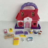 Hello Kitty Sanrio Mini Dolls House Carry Case Blue Box Collectable Figures