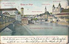 Nr 15407 PK Gruss aus Steyr 1907  O.Ö.